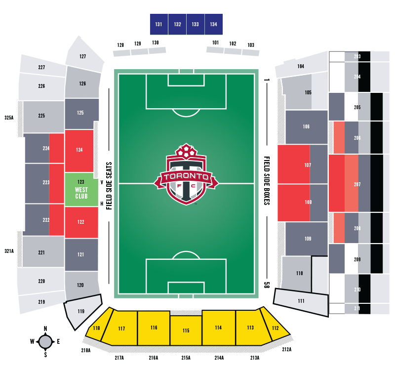 BMO Field Seating Chart