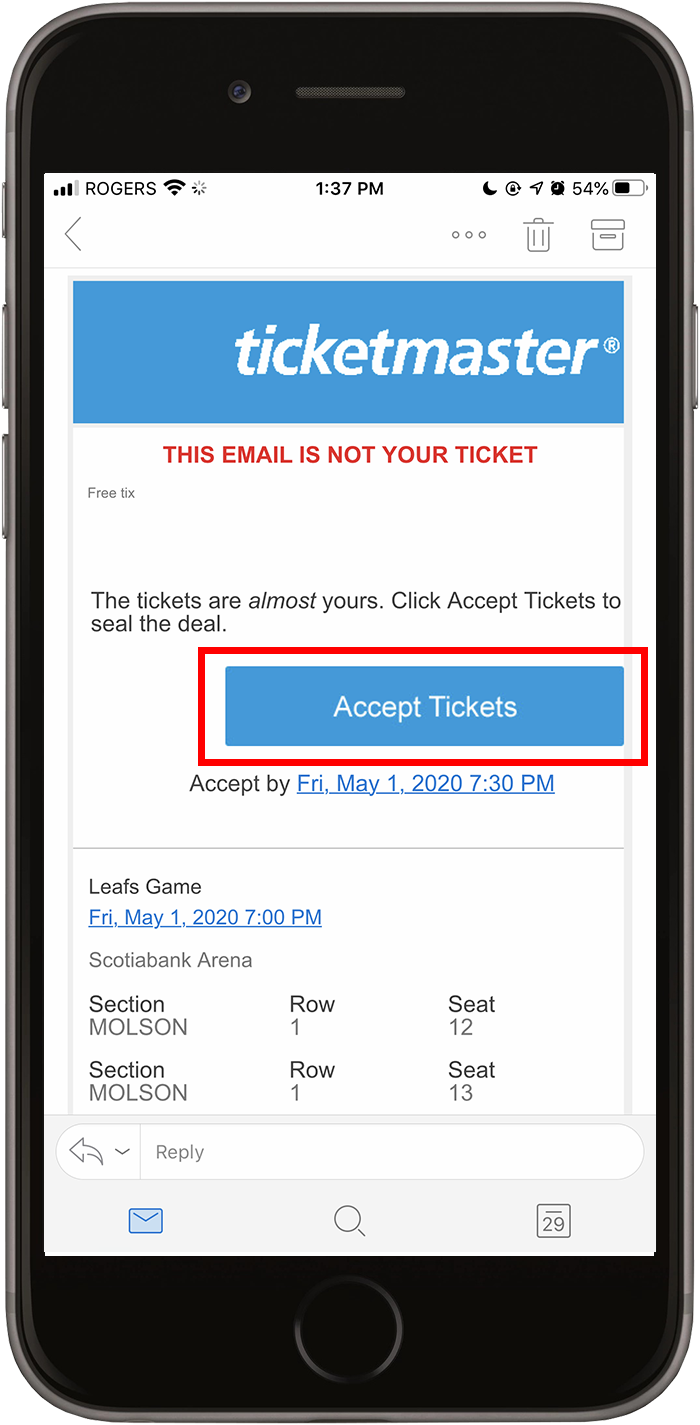 Mobile Ticketing | Toronto Maple Leafs