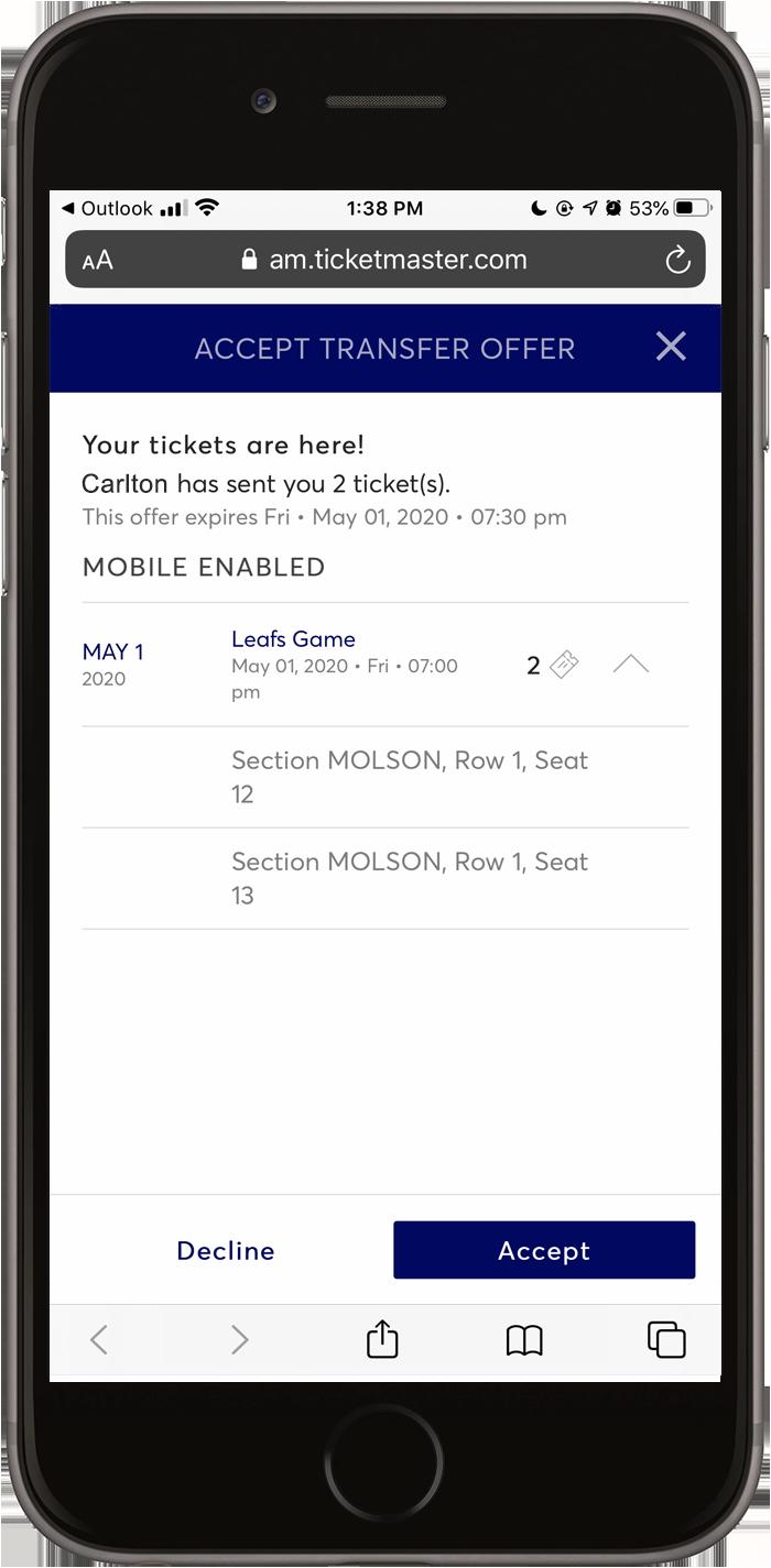 Mobile Ticketing | Toronto Maple Leafs