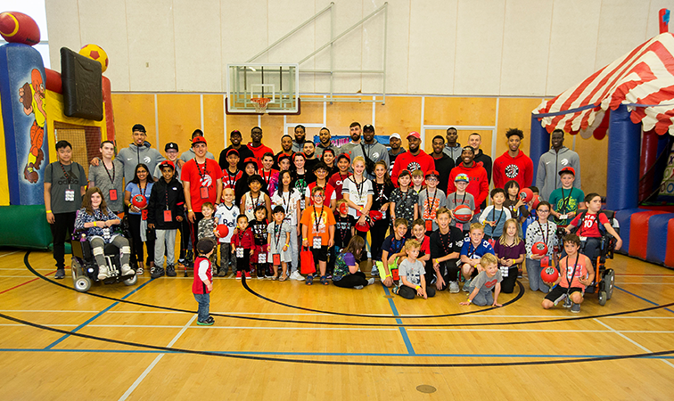 Raptors Visit Sick Kids