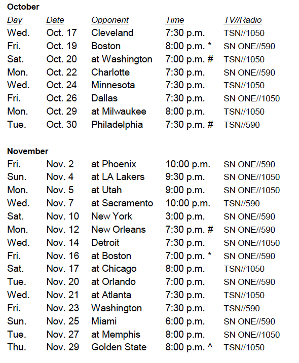 photograph about Sirius Xm Channel Guide Printable titled Raptors Announce 2018-19 Broadcast Timetable Toronto Raptors
