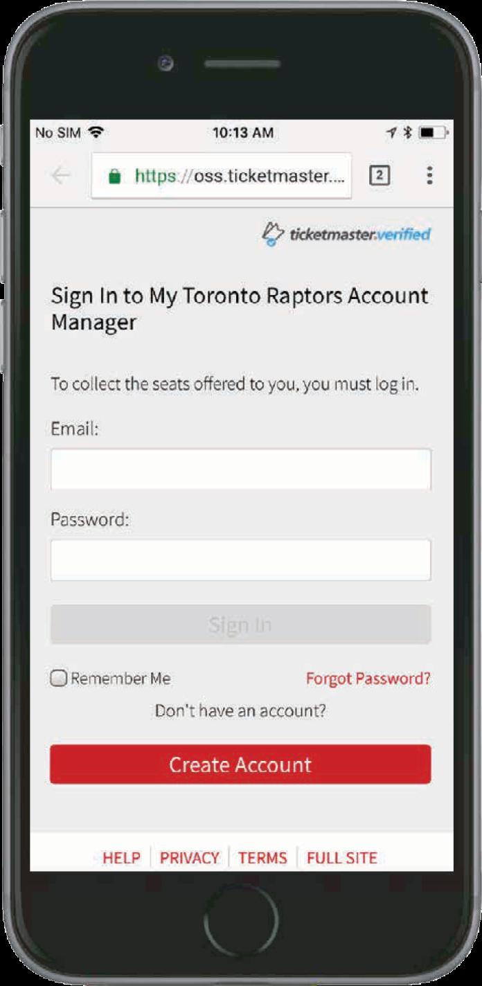 mobile ticketing | toronto raptors