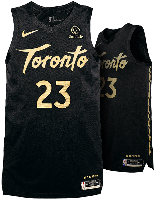 Raptors city jersey view 3