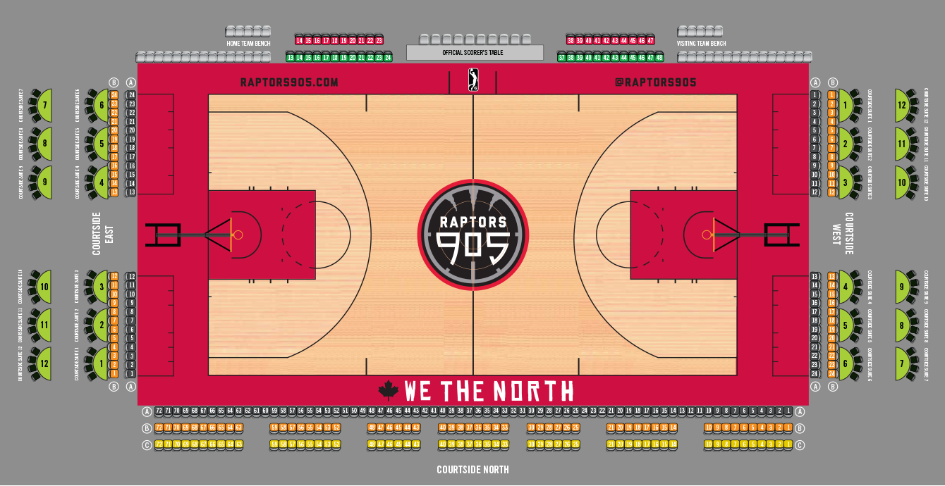 Raptors 905 Courtside Seat
