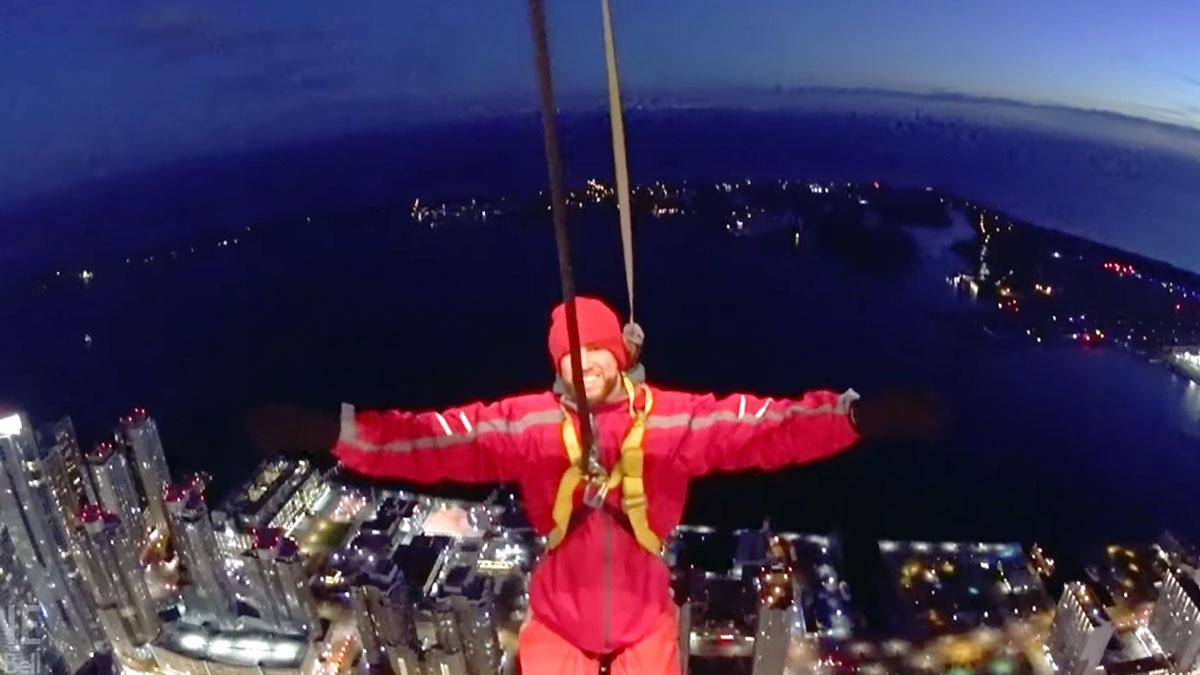 Jonathan Osorio on top of CN Tower