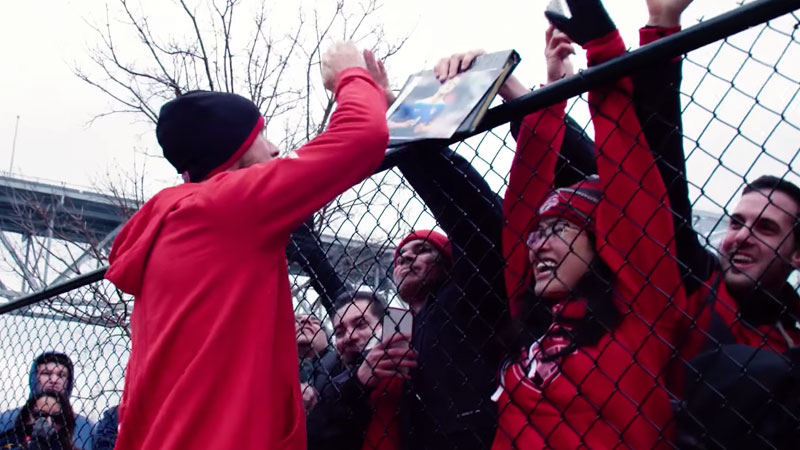 TFC fans greets players