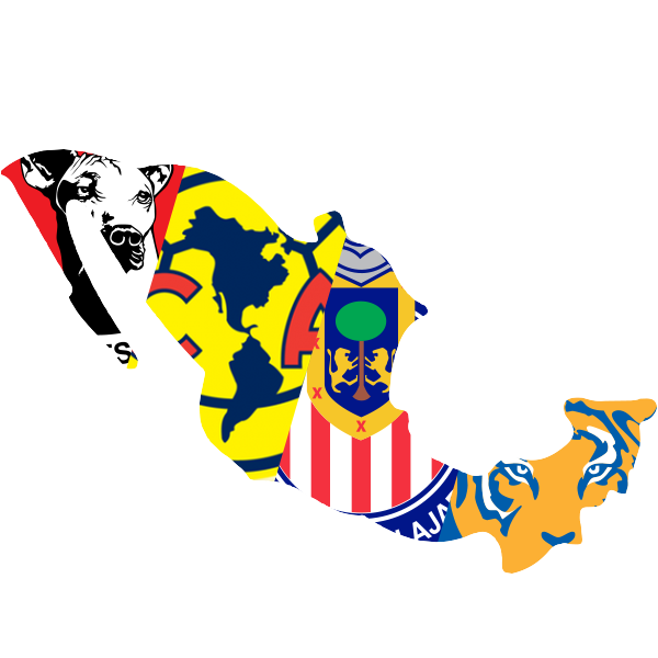 Mexico - Club America, Club Tijuana, Chivas Guadalajara, Tigres