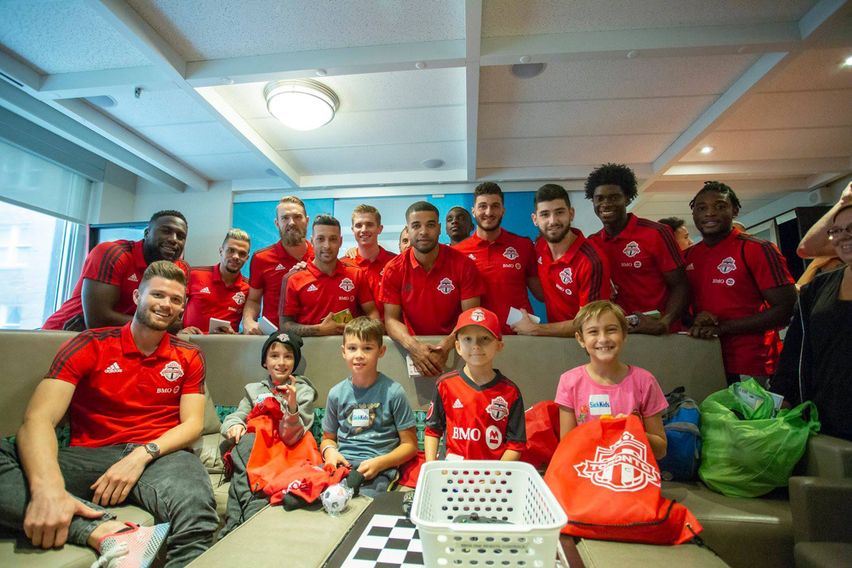TFC visits SickKids Hospital