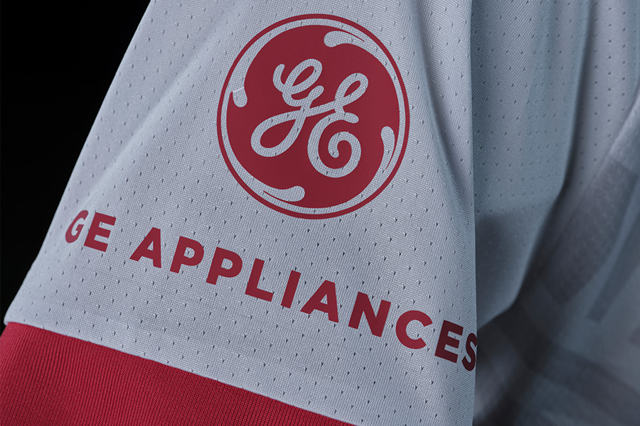 GE Appliances logo on sleeve