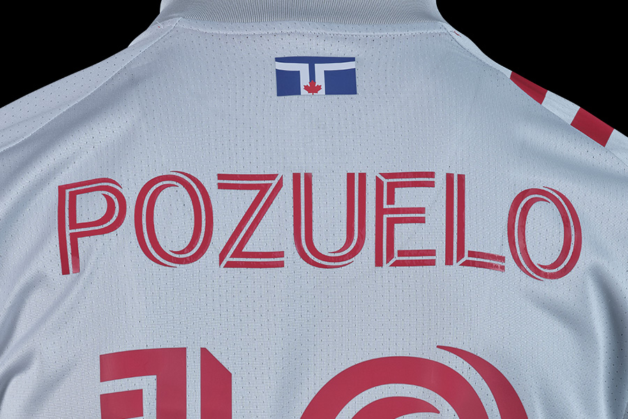 Pozuelo's name on back of kit