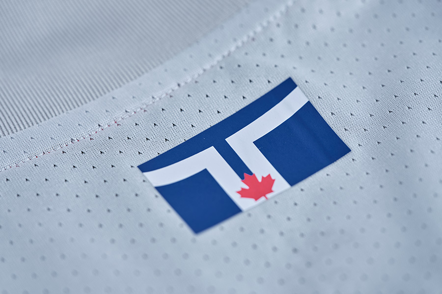 Toronto flag on back