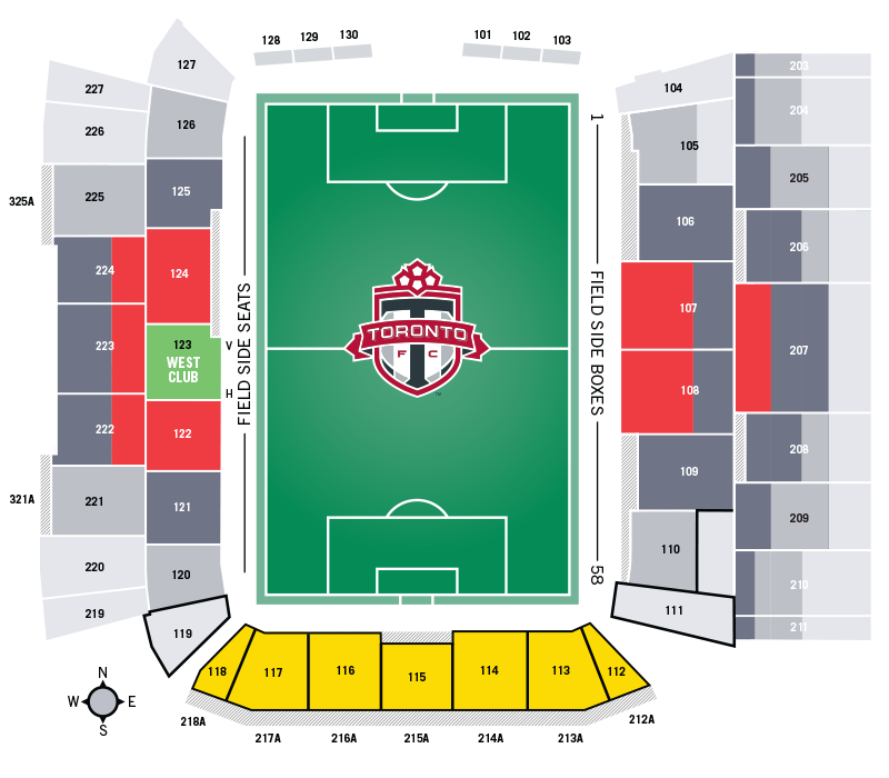 BMO Field Seating Chart